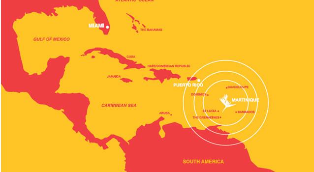 Map Caribbean