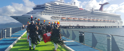The return of Carnival Glory to Martinique in 2019